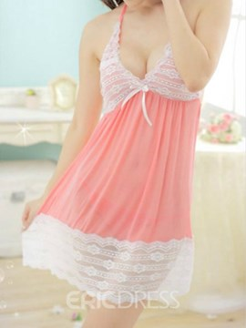 Ericdress Patchwork Backless Sexy Babydoll