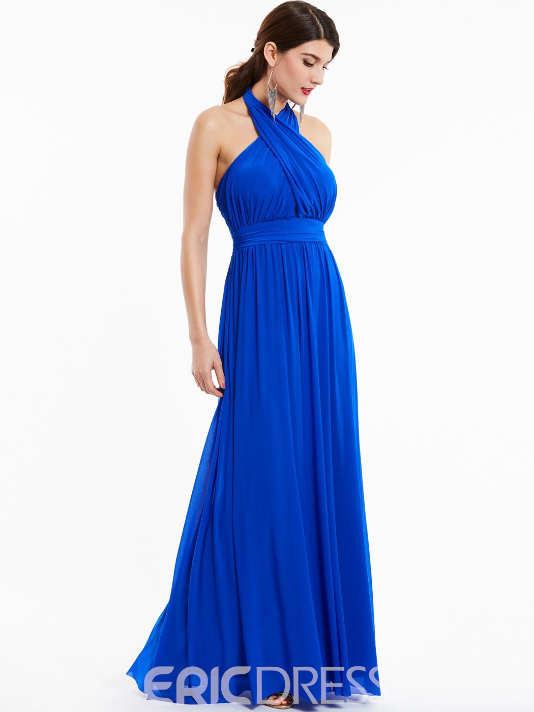 Ericdress Halter Neck Backless A Line Long Evening Dress In Floor-Length