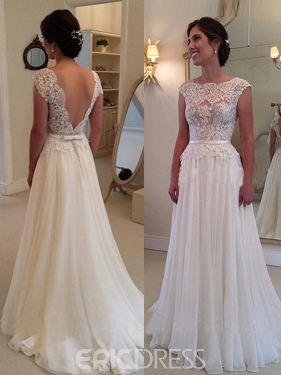 Wedding dresses a line lace wedding ideas for Lace dresses for weddings