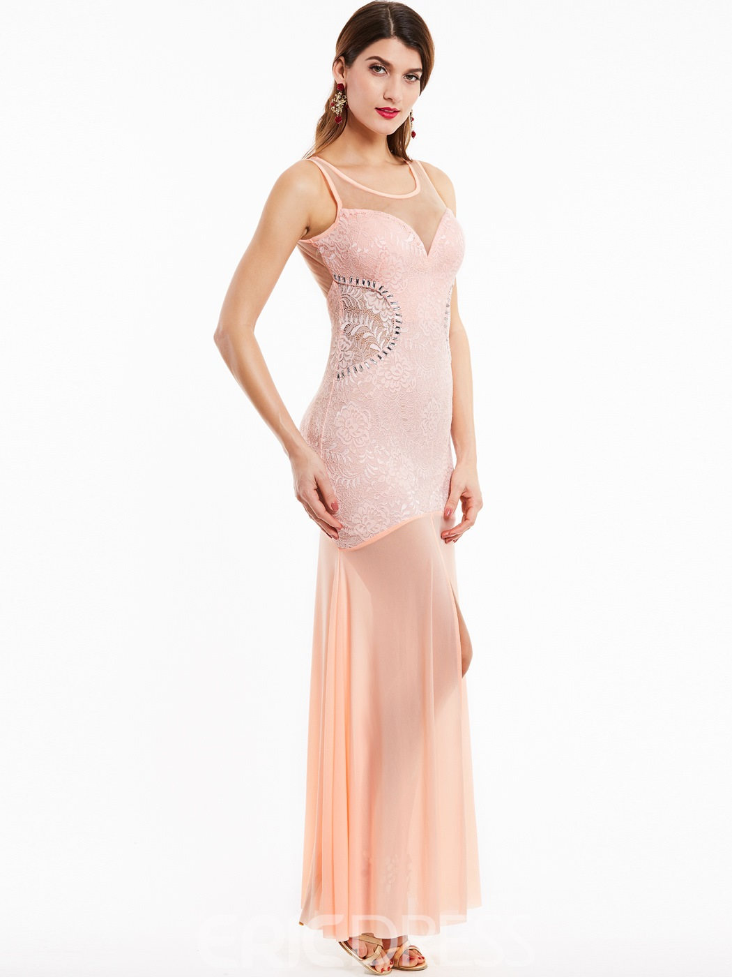 Ericdress encolure dégagée Split Front Long Prom Dress
