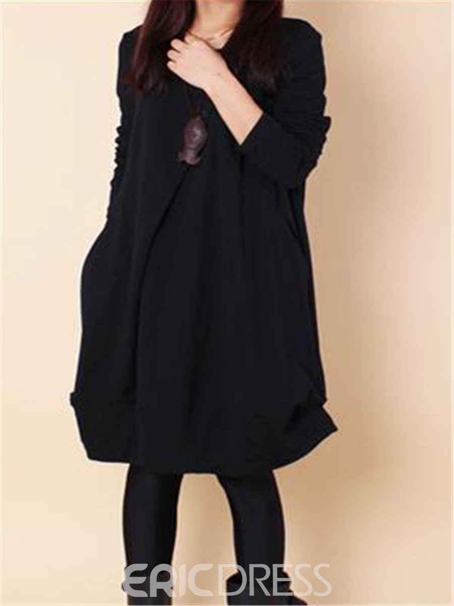 Ericdress Loose Long Sleeve Casual Dress