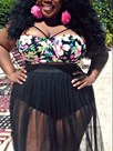 Ericdress Hot and Sweet Print Mesh Tankini Set ( Plus Size Available )