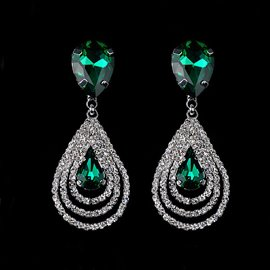 Exquisite Diamante Crystal Earrings for Women