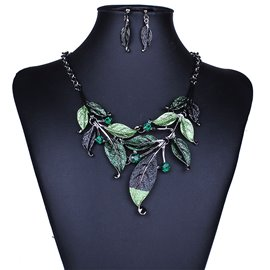 Delicate Leaf Jewelry Set for Women