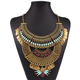 Ericdress Retro E-Plating Alloy Necklace