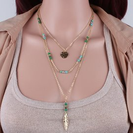 Handmade Beaded Turquoise Necklace