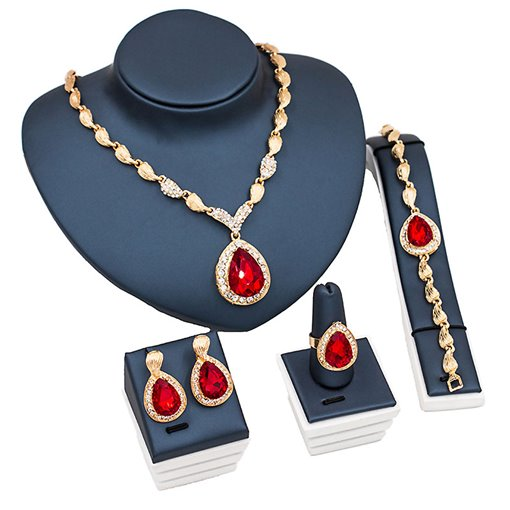 Ericdress Water Drop Gemstone Jewelry Set