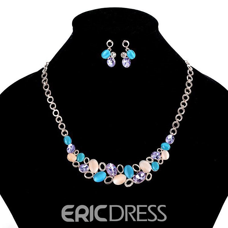 Opal Star Temperament Colour Jewelry Set
