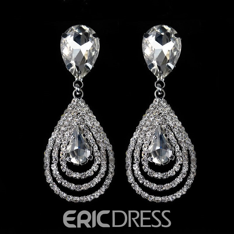 Exquisite Diamante Rhinestone Earrings for Women