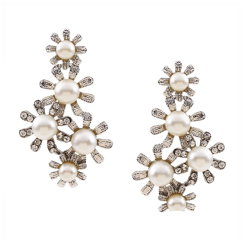Ericdress Shiny Pearl Floral Jewelry Set