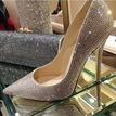 Luxury Diamond Pointed toe Stilletto Heels Prom Shoes