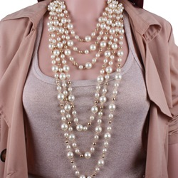 Manual Multilayer Pearl Jewelry Set ericdress