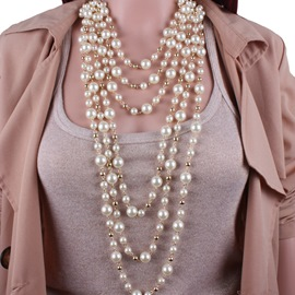 Manual Multilayer Pearl Jewelry Set