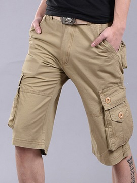 Ericdress Plain Loose Big Pocket Casual Men's Shorts