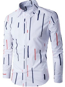 Ericdress Unique Stripe Vogue Slim Men's Shirt