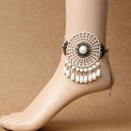 Ericdress National Style Pearl Pendant Anklet for Women