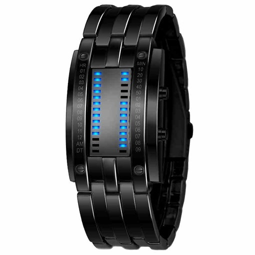 Ericdress Wolfram Steel Binary LED Men's Watch