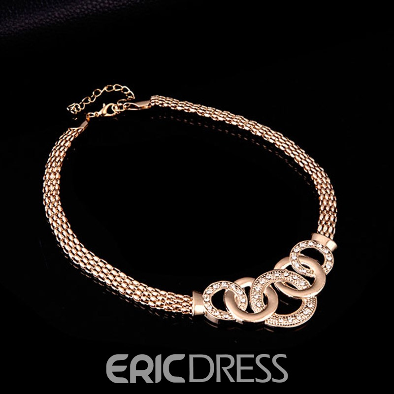 Ericdress Diamante Circle Linked Jewelry Set