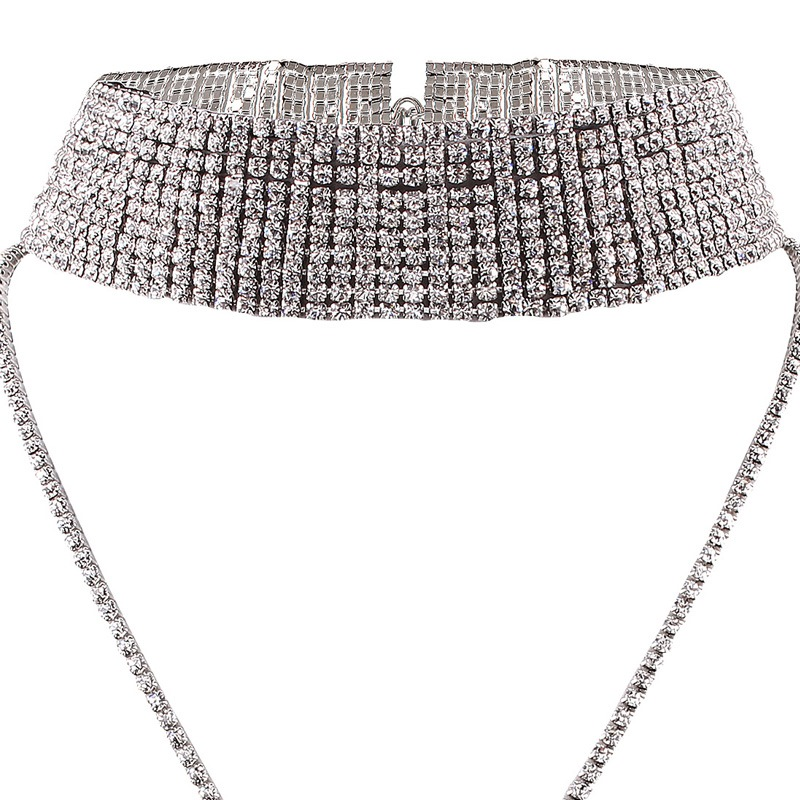 Ericdress Sparkling Full Rhinestone Choker Necklace