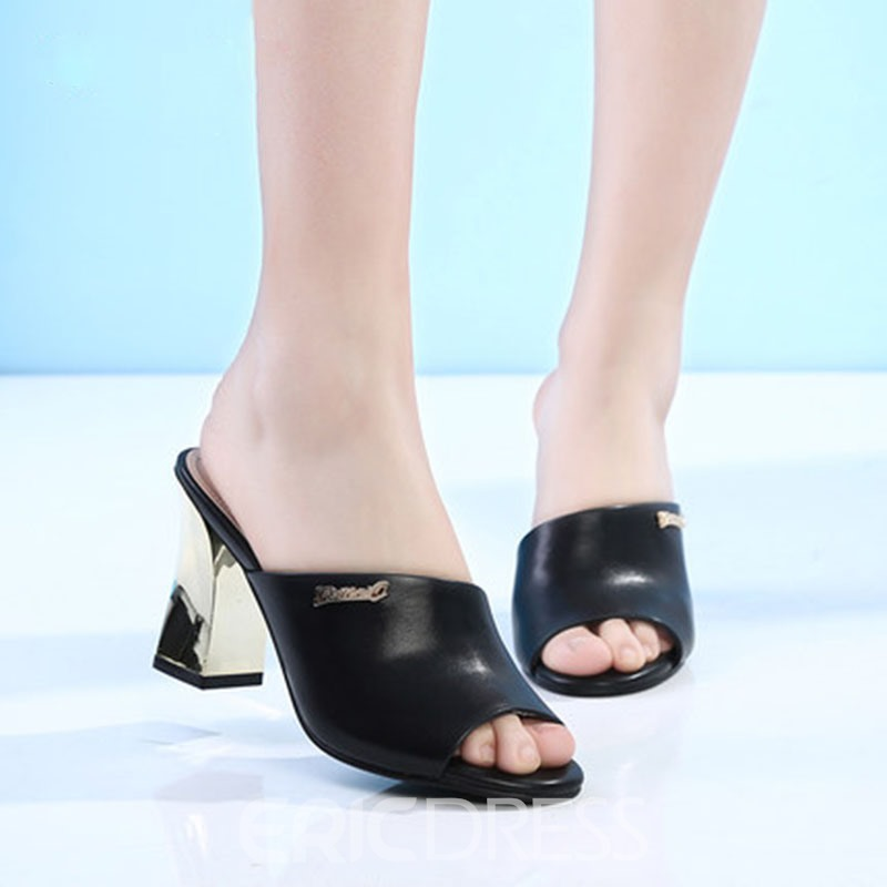 Ericdress Simple Slip-On Mules Shoes