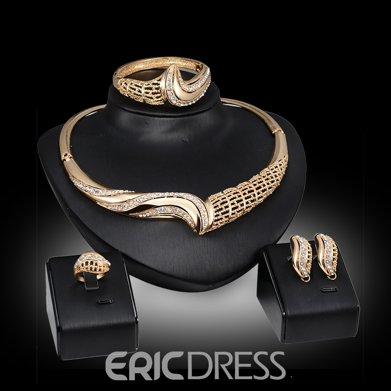 Ericdress Exaggerate Curvy Diamante Jewelry Set
