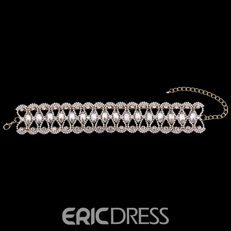 Ericdress Best Seller Fully-Jewelled Alluring Choker Necklace