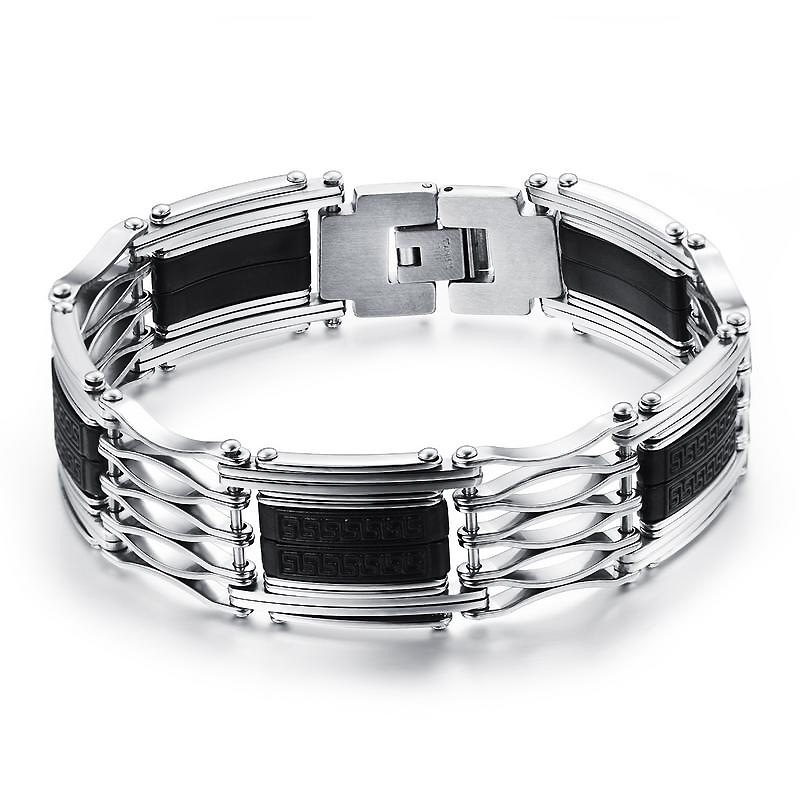 Ericdress Exaggerate Hollow Stainless Steel Men's Bracelet