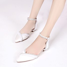 Ericdress Graceful Rhinestone Plain Wedding Shoes with Buckle
