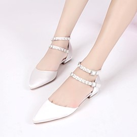 Ericdress Pointed Toe Line-Style Buckle Plain Wedding Shoes