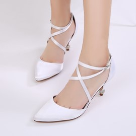 Ericdress Pointed Toe Plain Stiletto Heel Wedding Shoes