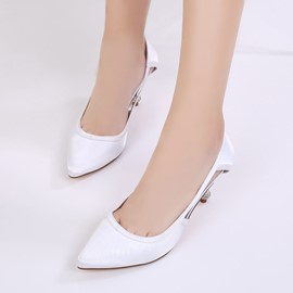 Ericdress Hollow Pointed Toe Stiletto Heel Wedding Shoes