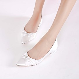 Ericdress Rhinestone Pointed Toe Wedding Shoes with Bow
