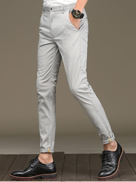 Ericdress Plain Slim Quality Vogue Casual Men's Pants