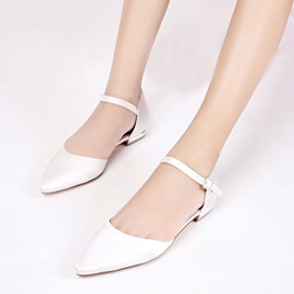EricdressPointed Toe Low-Cut Wedding Shoes with Buckle