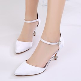Ericdress Plain Low-Cut Stiletto Heel Wedding Shoes
