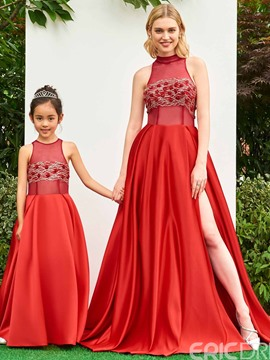 Ericdress Jewel A Line Beaded Floor Length Flower Girl Party Dress