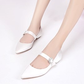 Ericdress Pointed Toe Low-Cut Wedding Shoes with Buckle