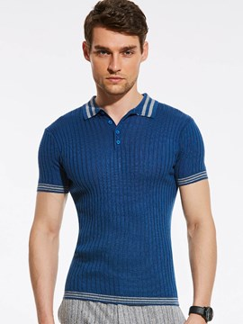 Ericdress Stripe Knit Short Sleeve Vogue Men's T-Shirt