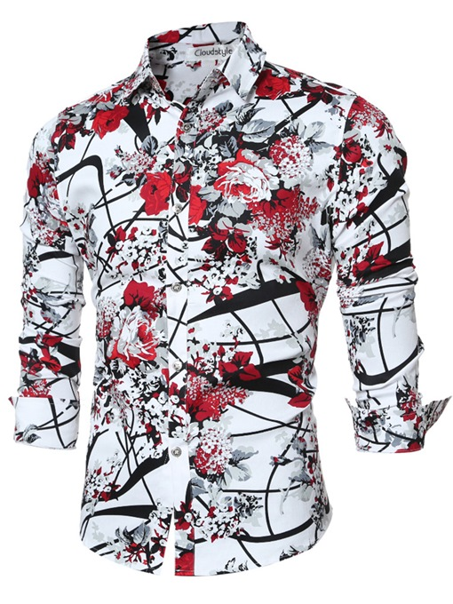 Ericdress Quality Vogue Print Slim Men's Shirt