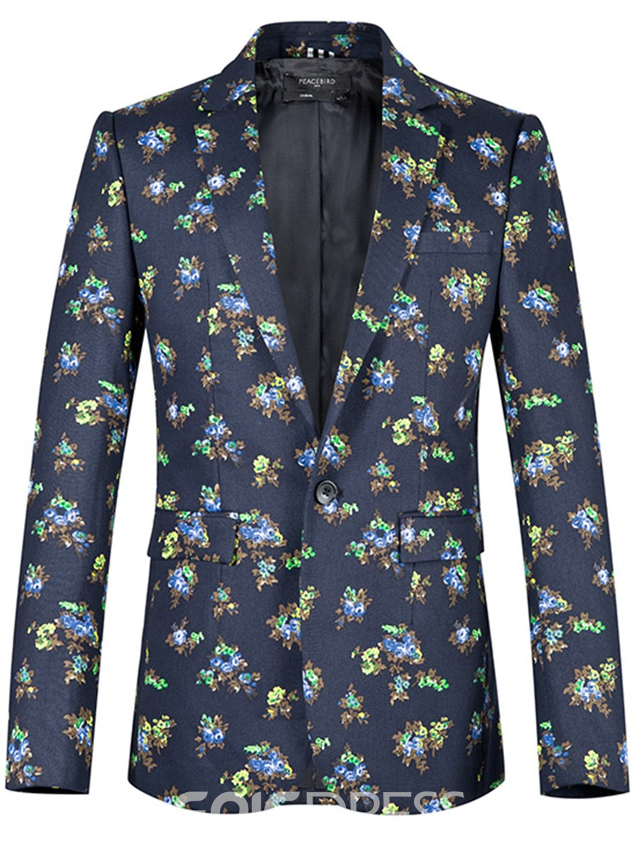 Ericdress Floral One Button Casual Slim Men's Blazer