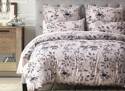 Vivilinen Leaves and Branches Printed Polyester 3-Piece Bedding Sets/Duvet Cover