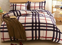 Vivilinen Plaid Print Modern Style Polyester 4-Piece Bedding Sets