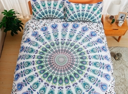 Vivilinen Mandala Print White Polyester 3-Piece Bedding Sets