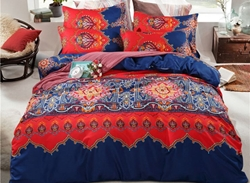 Vivilinen Moroccan Style Contrast Color Polyester 4-Piece Bedding Sets