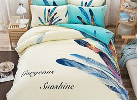 Vivilinen Feather Pattern Kids Cotton 4-Piece Duvet Cover Sets