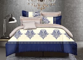 Vivilinen Chic Pattern Print Polyester 4-Piece Duvet Cover Sets