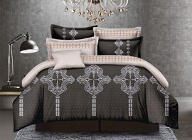Vivilinen Luxurious Ethnic Style Polyester 4-Piece Duvet Cover Sets