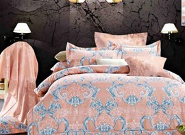 Vivilinen Ogee Leaves Print 4-Piece Polyester Duvet Cover Sets