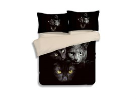 Vivilinen Kittens in the Dark 4-Piece Polyester Duvet Cover Sets