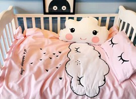 Vivilinen cute cartoon clouds pattern coton ensembles de couette en duvet de 4 pièces